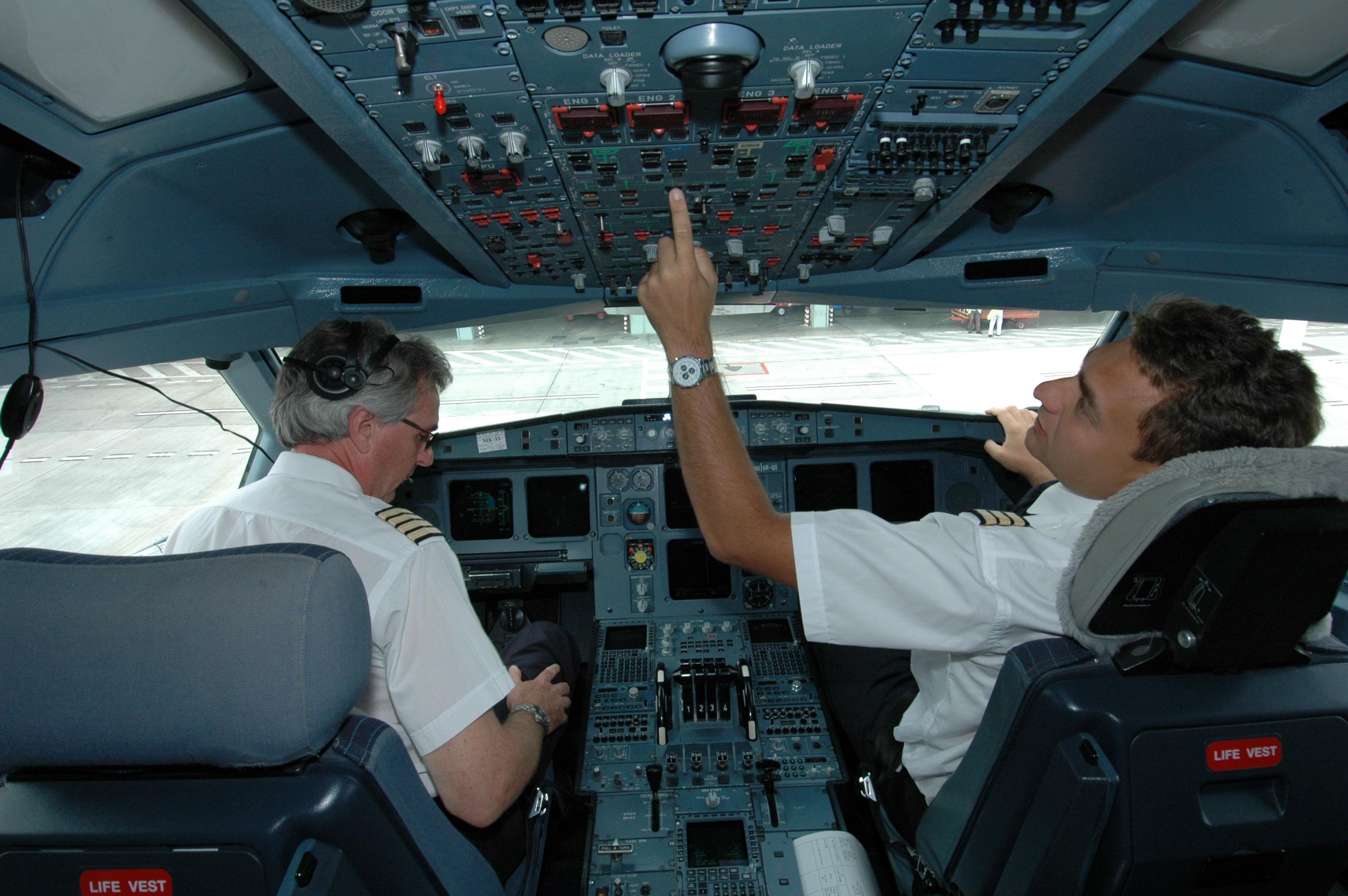 Фото с кабины пилотов гражданской авиации во время пол та 3